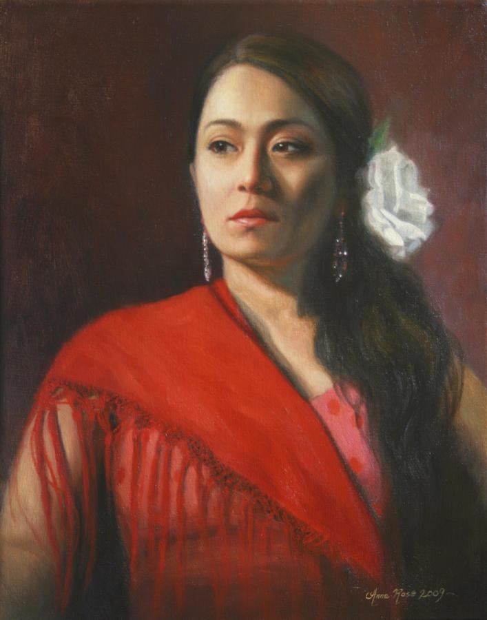 Flamenco Dancer Painting