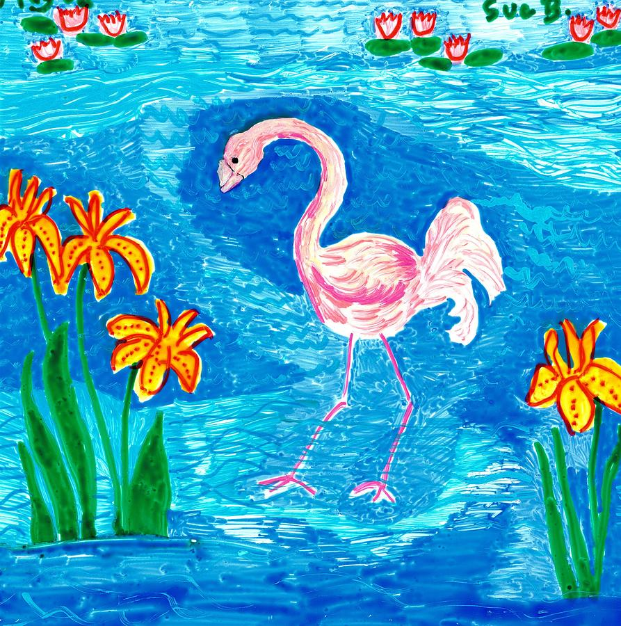 Flamingo Painting  - Flamingo Fine Art Print