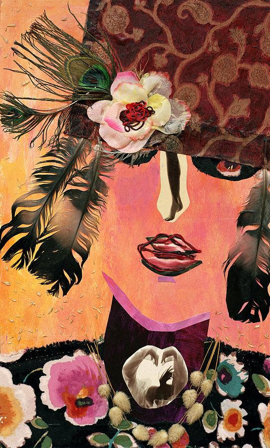 Flapper Lady Mixed Media  - Flapper Lady Fine Art Print