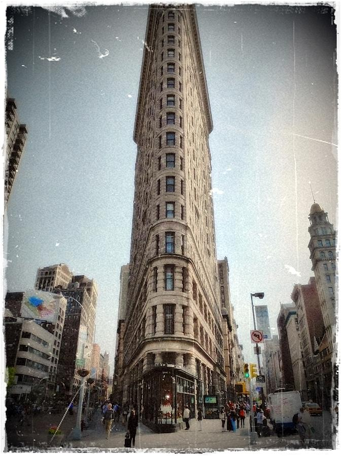 Flat Iron Building Pyrography  - Flat Iron Building Fine Art Print