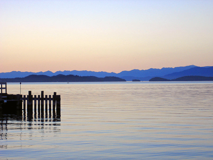 Flathead Lake At Dusk Photograph