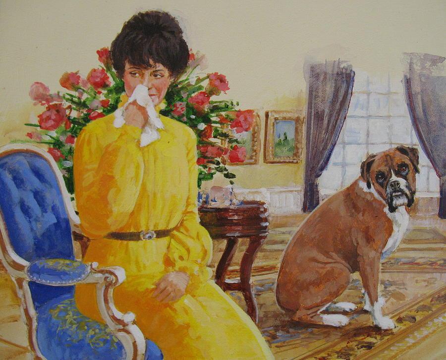 Flatulent Boxer Painting