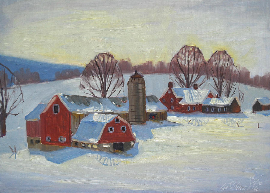 Fletcher Farm Painting  - Fletcher Farm Fine Art Print