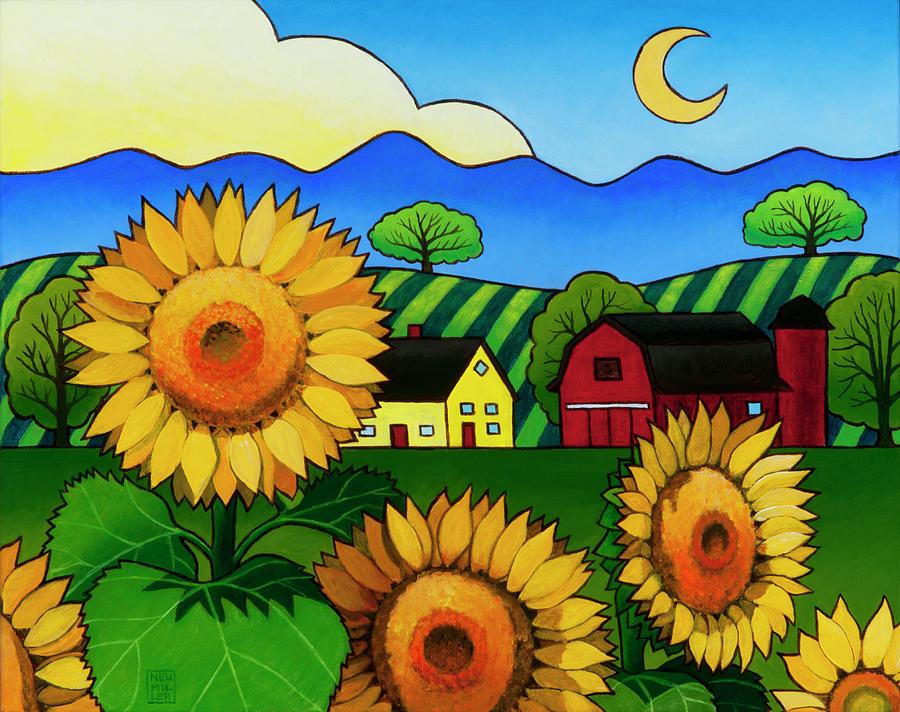 Fleur Du Soleil Painting