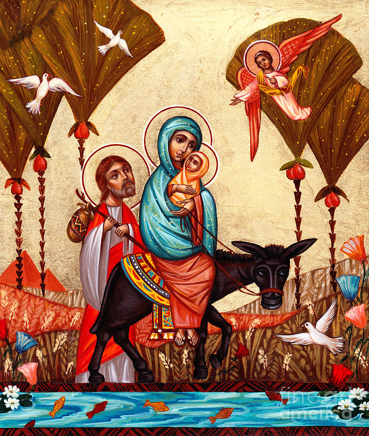 Flight Into Egypt Painting  - Flight Into Egypt Fine Art Print