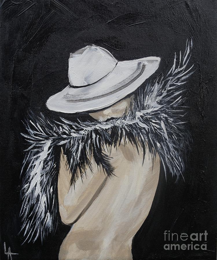 Woman Painting - Flirt by Leslie Allen