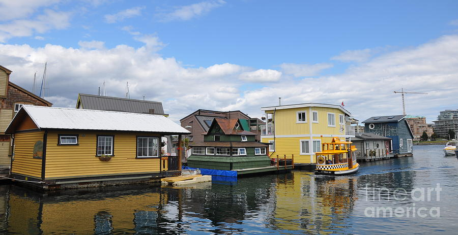 Float Houses In Victoria Canada Photograph  - Float Houses In Victoria Canada Fine Art Print
