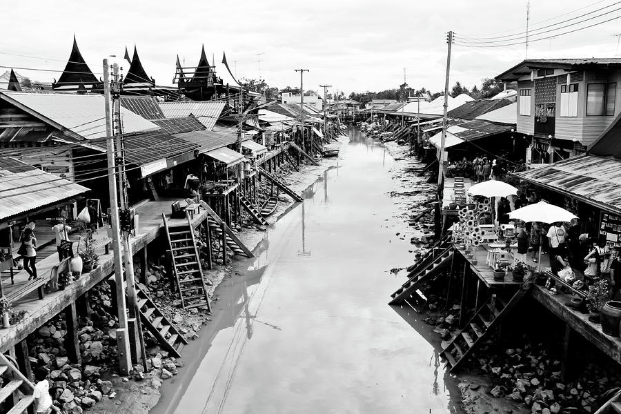Floating Market In Thailand Photograph