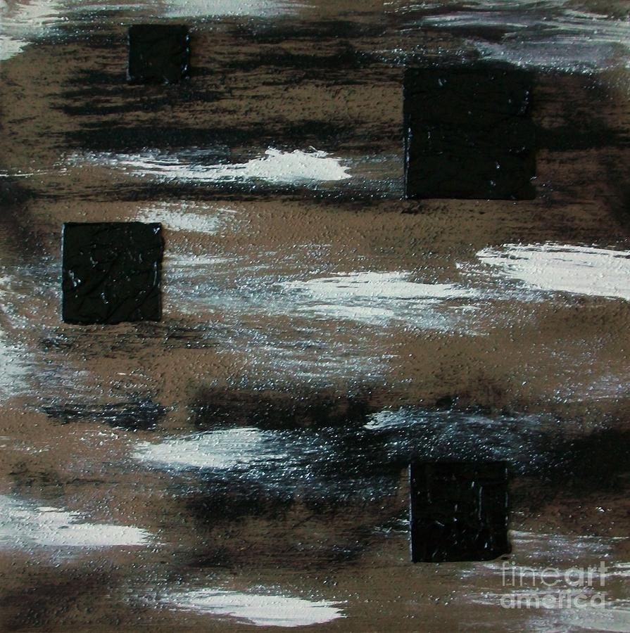 Floating Squares Painting  - Floating Squares Fine Art Print