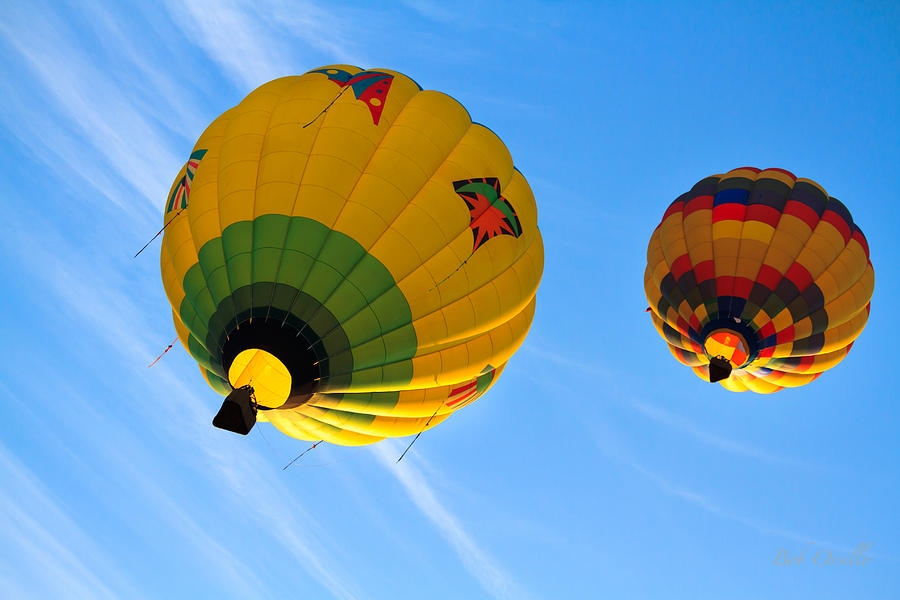 Floating Upward Hot Air Balloons Photograph
