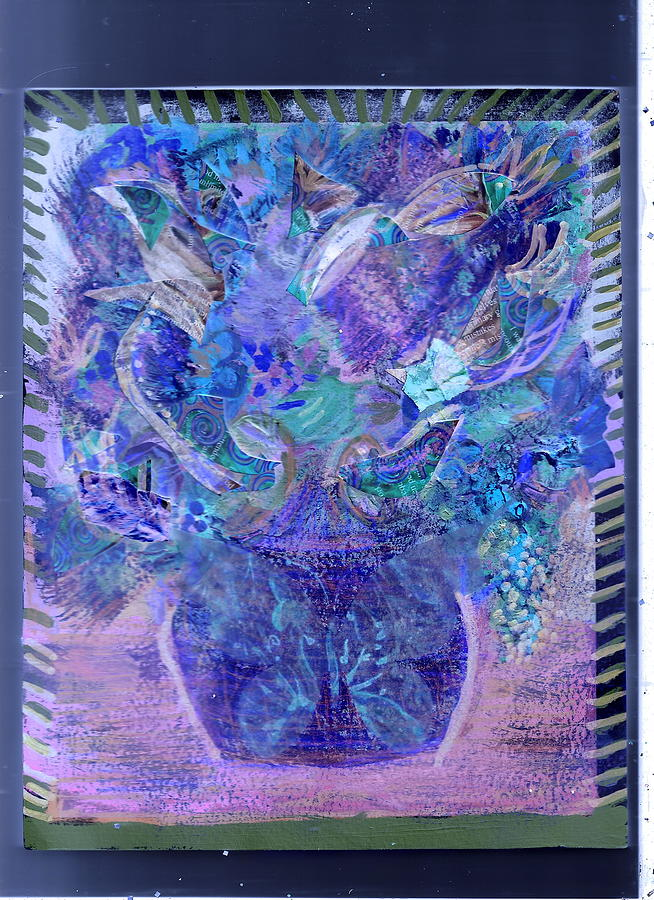Floral Bouquet Purple  Painting  - Floral Bouquet Purple  Fine Art Print