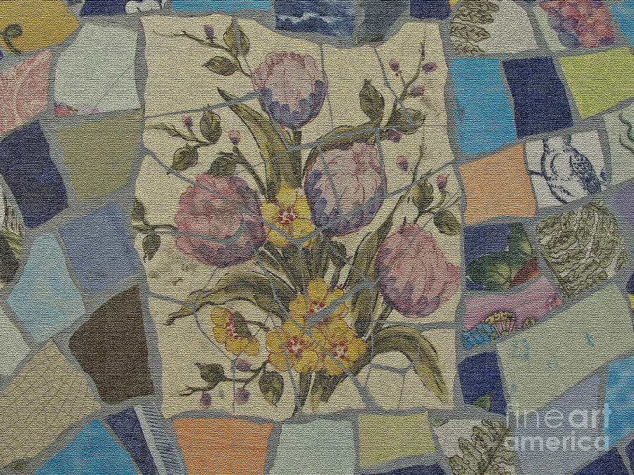 Floral Mosaic Abstract One Photograph