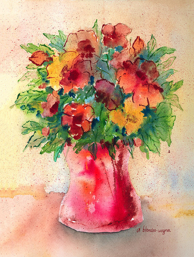 Flower Painting - Floral Still Life by Arline Wagner