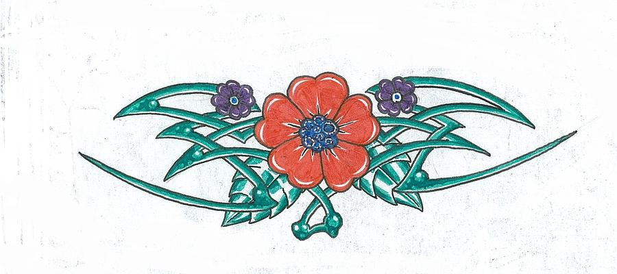 Floral Trible Drawing