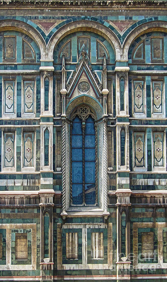 Florence Italy - Duomo Stained Glass Photograph