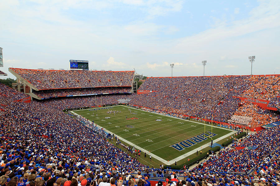Florida  Ben Hill Griffin Stadium On Game Day Photograph  - Florida  Ben Hill Griffin Stadium On Game Day Fine Art Print