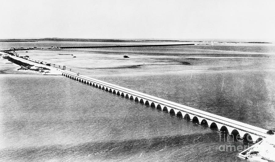 1939 Photograph - Florida: Overseas Bridge by Granger