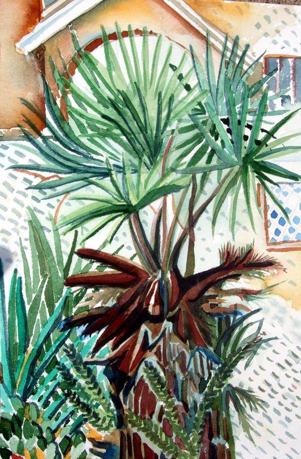 Florida Palm Painting  - Florida Palm Fine Art Print