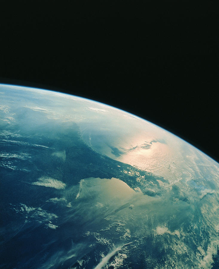 Florida Peninsula From Shuttle Photograph