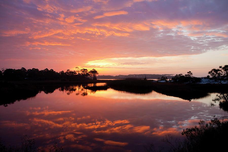 Sunrise Photograph - Florida Sunrise by Charles Warren