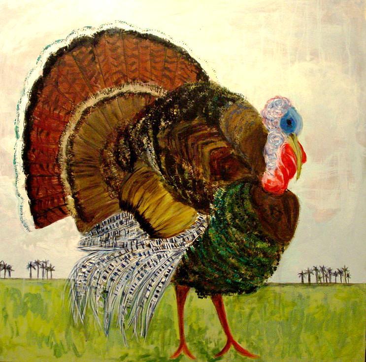 Florida Wild Turkey Painting