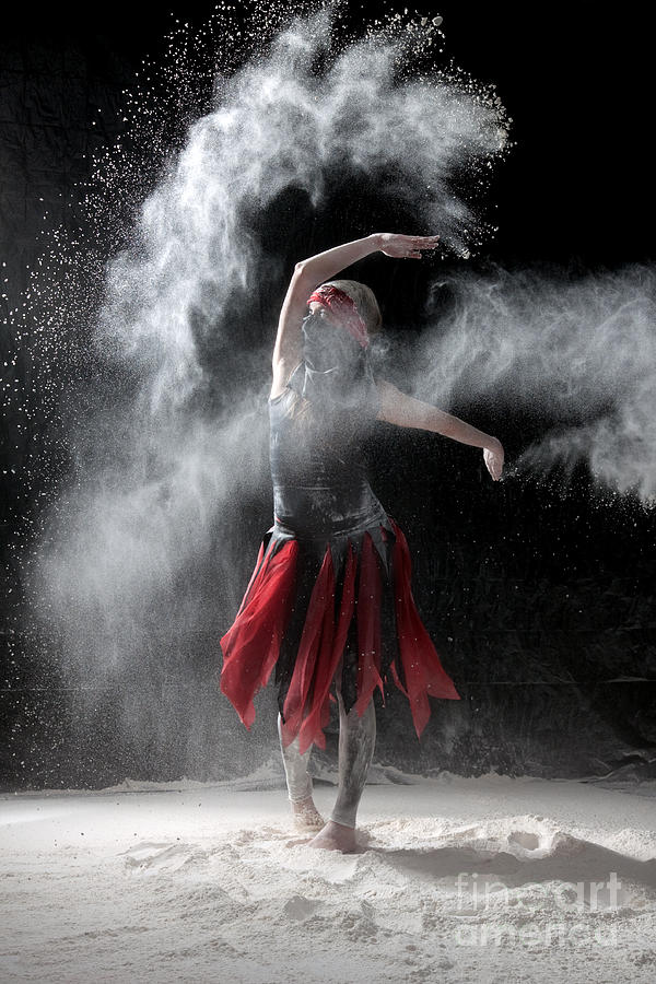 Flour Dancer Series Photograph  - Flour Dancer Series Fine Art Print