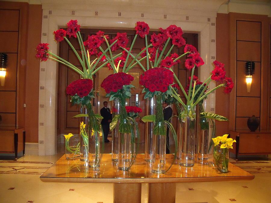 Flower Arrangement Hotel Lobby Cairo By Lynda Farrow