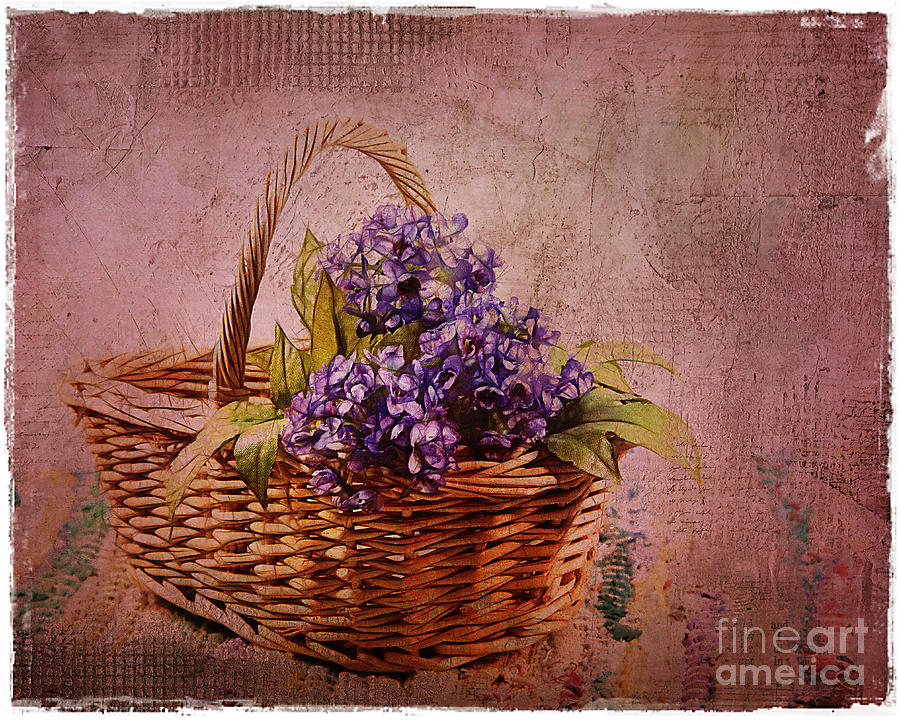 Flower Basket Photograph  - Flower Basket Fine Art Print