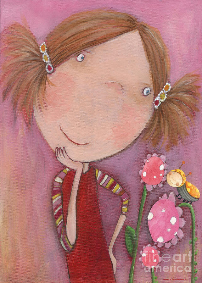 Flower Child Jenny Painting  - Flower Child Jenny Fine Art Print