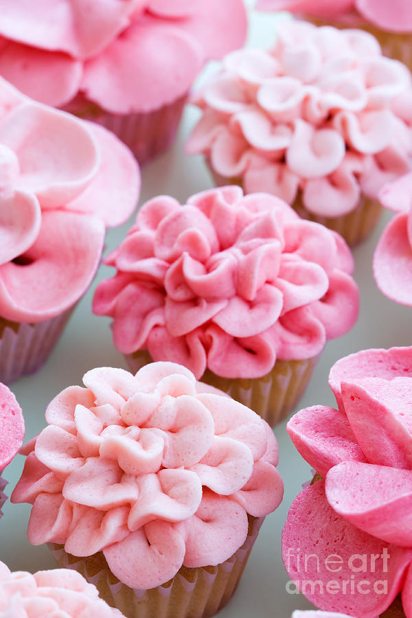 Cupcake Photograph - Flower Cupcakes by Ruth Black