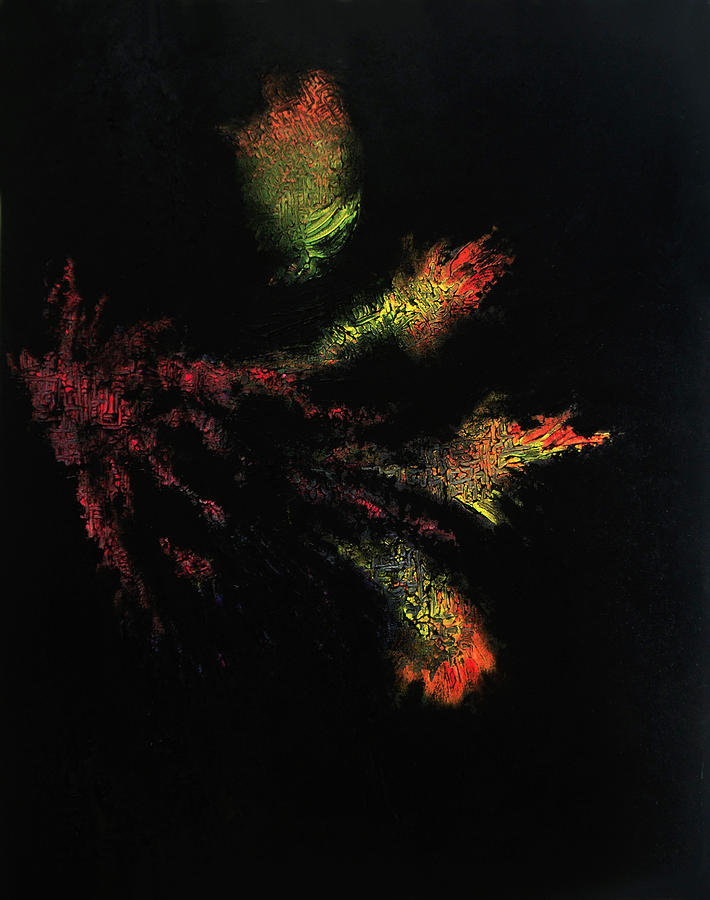 Flower Darkness Painting  - Flower Darkness Fine Art Print