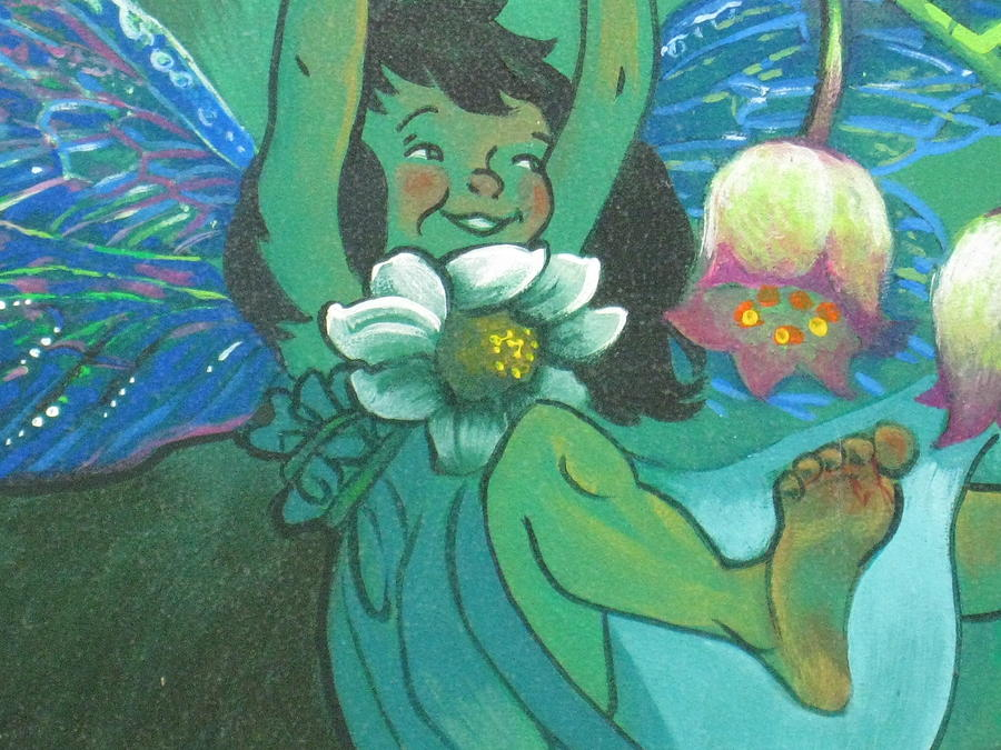 Fairies painting flower fairy by diana schuppel