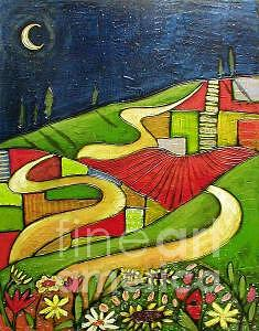 Flower Farms  - Sold- Painting