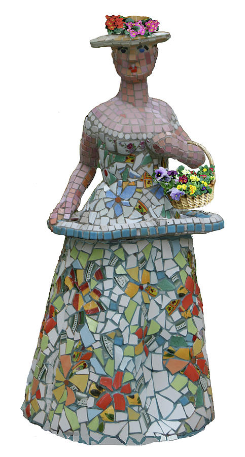 Flower Girl Sculpture  - Flower Girl Fine Art Print