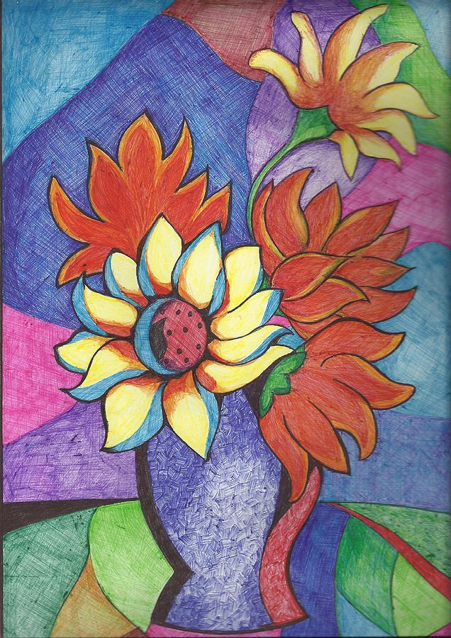 Pot Painting by Sheetal Shah - Flower Pot Fine Art Prints and