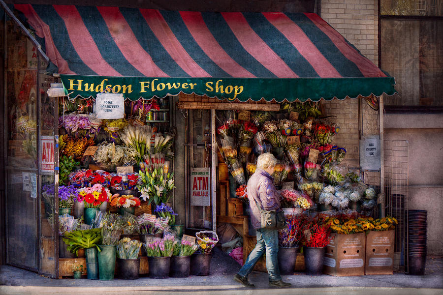 Flower Shop - Ny - Chelsea - Hudson Flower Shop  Photograph