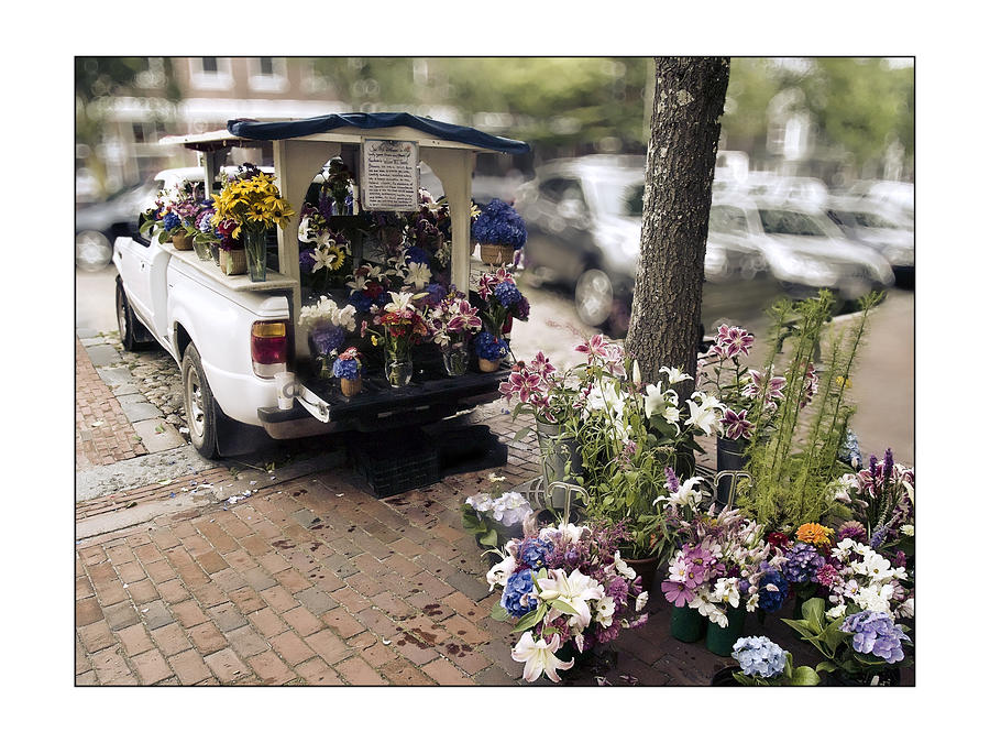 Flower Truck On Nantucket Photograph  - Flower Truck On Nantucket Fine Art Print