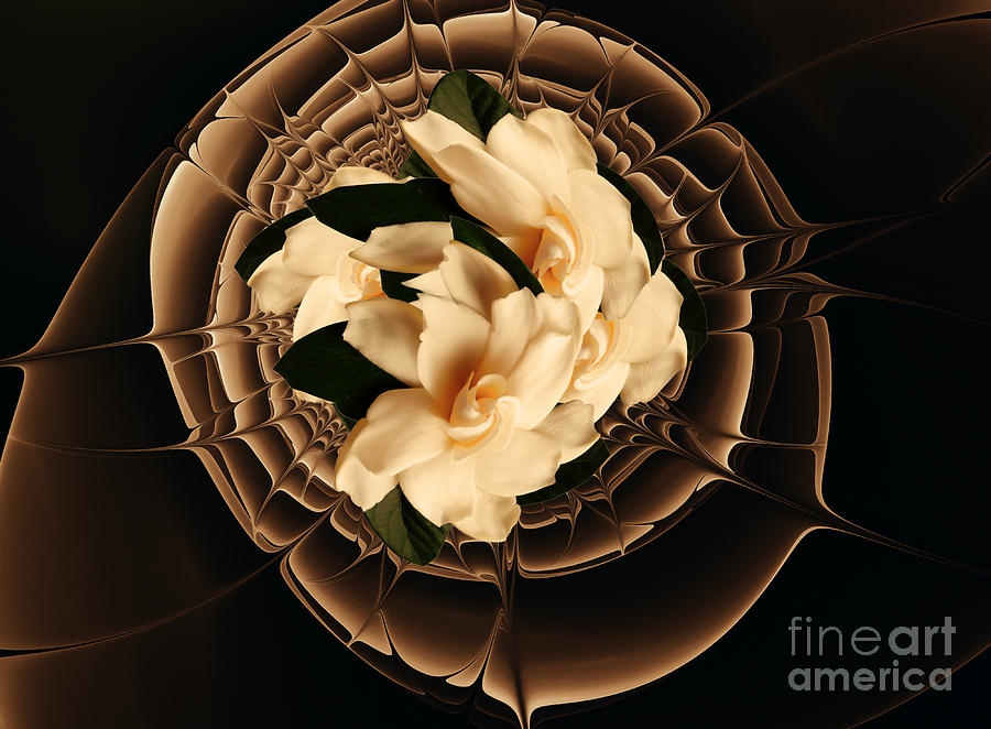 Flowers And Chocolate Mixed Media  - Flowers And Chocolate Fine Art Print