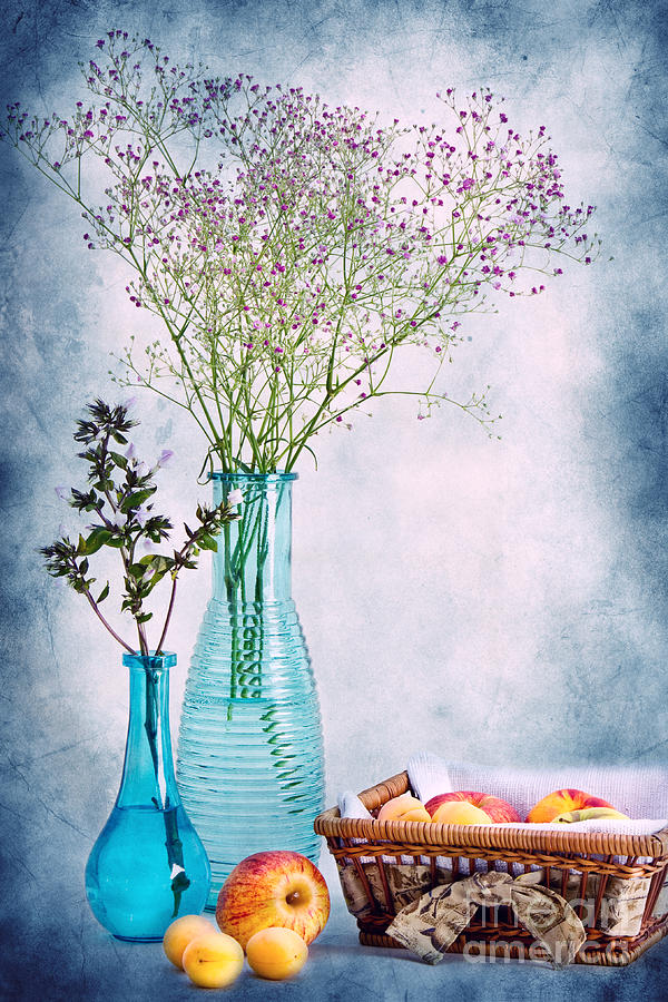 Flowers And Fruits Photograph  - Flowers And Fruits Fine Art Print