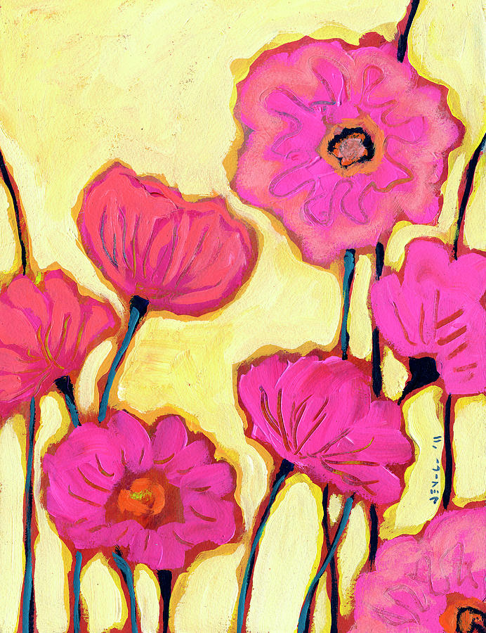 Flowers For Coralyn Painting  - Flowers For Coralyn Fine Art Print