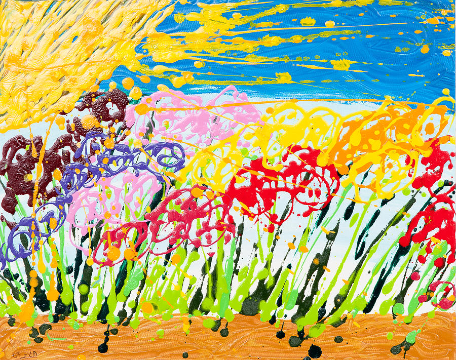 Flowers freedom painting by hagit dayan - Flowers that mean freedom ...