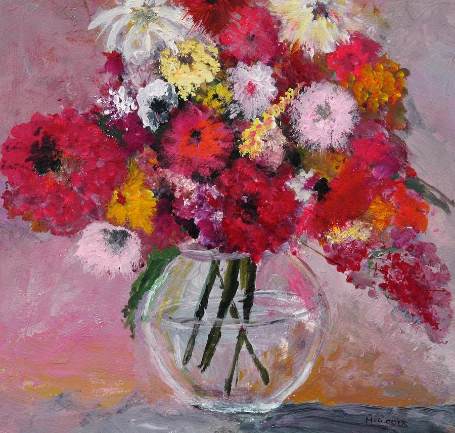 Paintings Of Flowers In Glass Vases