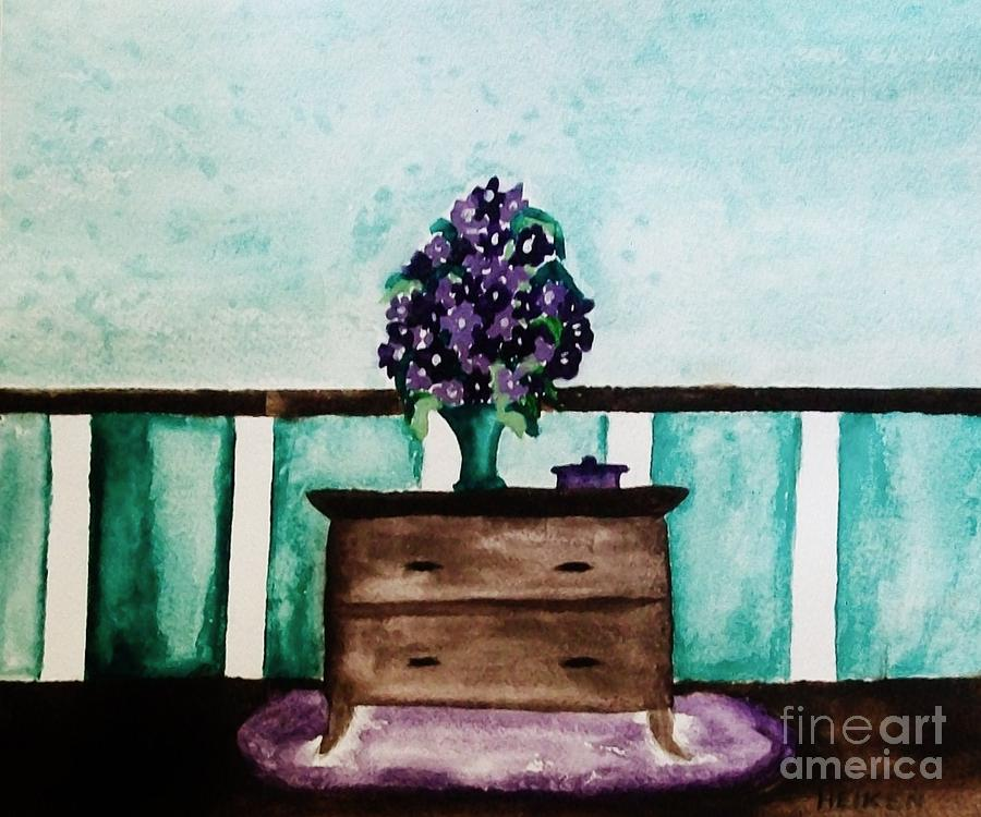 Flowers On My Dresser Painting  - Flowers On My Dresser Fine Art Print