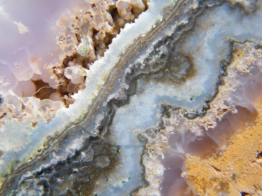 Flowing Texture Within A Geode Photograph 