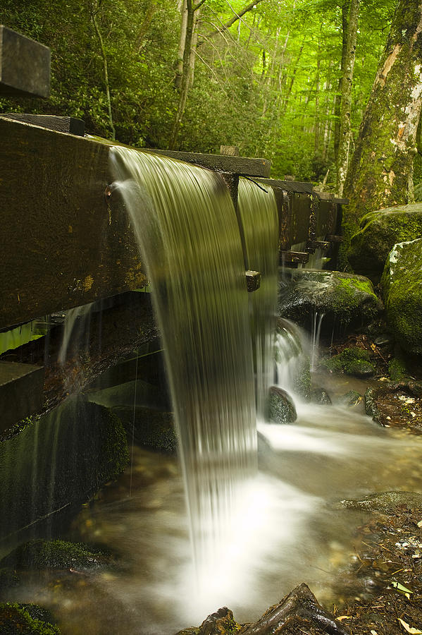 Mill Photograph - Flowing Water by Andrew Soundarajan