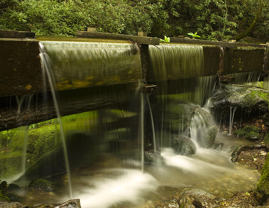 Flowing Water From Mill Photograph