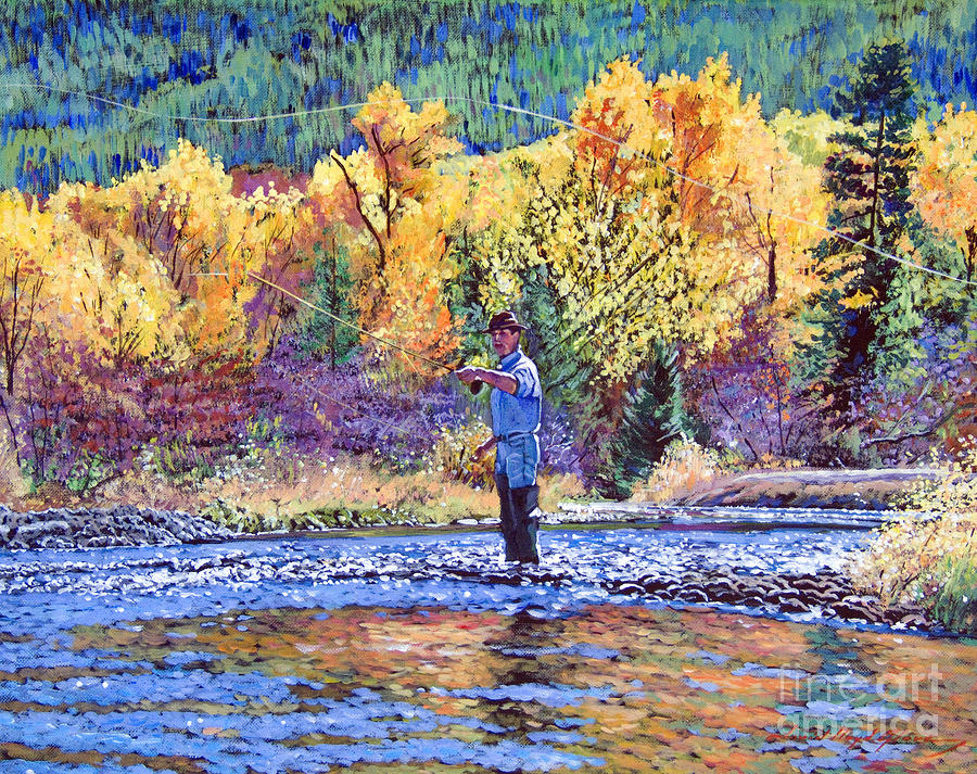 Fly Fishing Painting  - Fly Fishing Fine Art Print