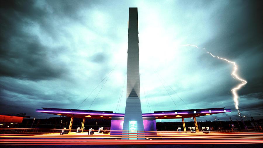 Flying Fuelstation - Lightning Edt. Photograph