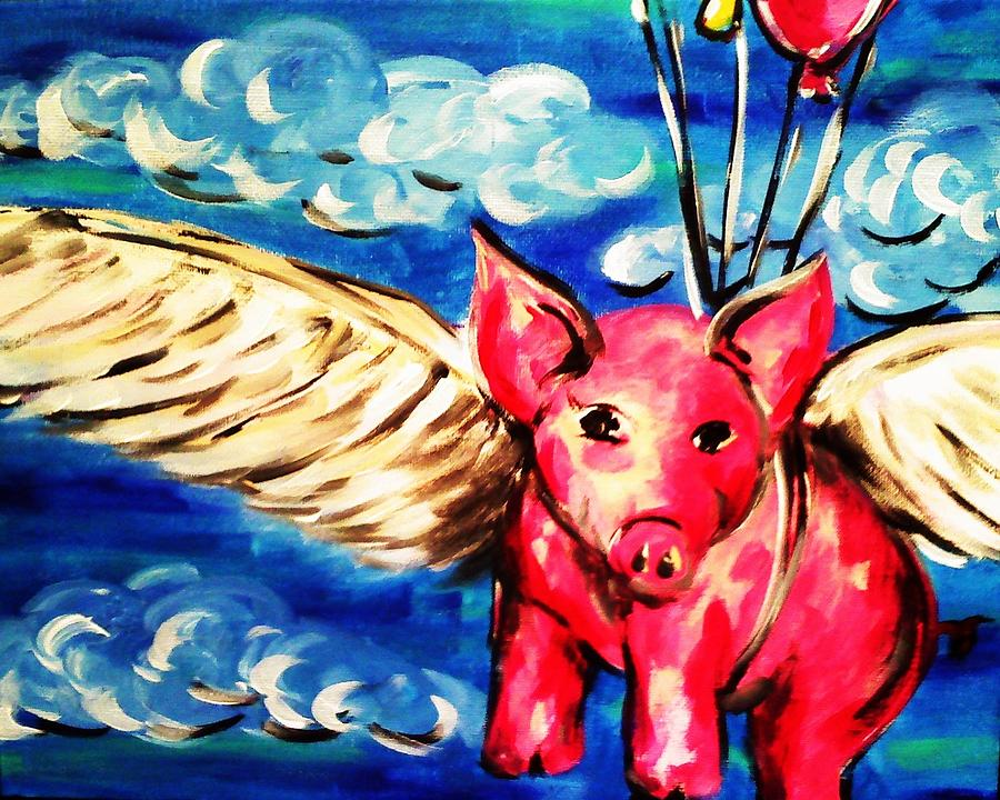 Flying Pig 2 Painting