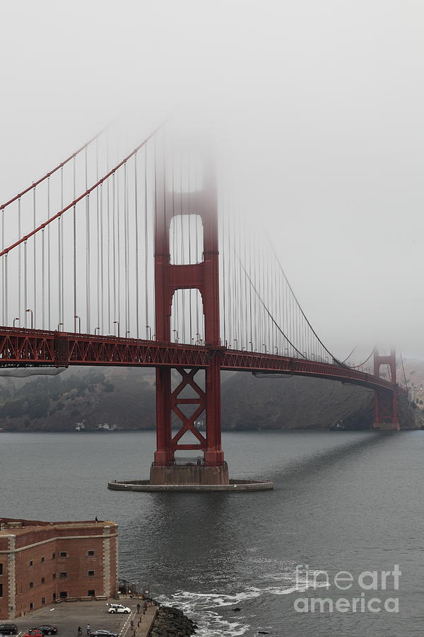 Fog At The San Francisco Golden Gate Bridge - 5d18869 Photograph